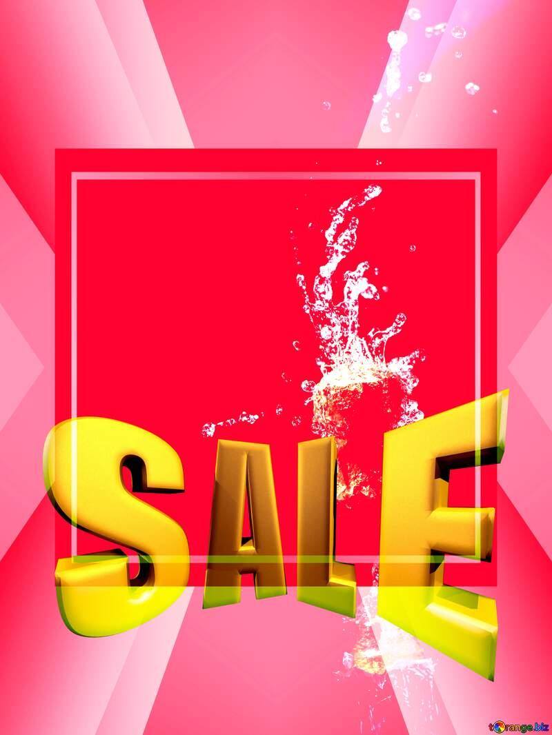 Sales promotion 3d Gold letters sale background Design Champagne Template №25887
