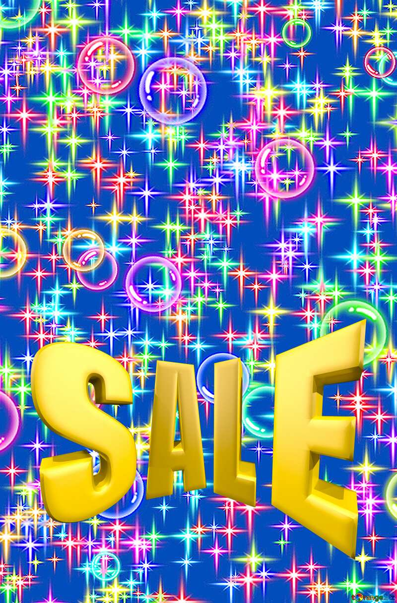 Holiday background Sales promotion 3d Gold letters sale background №39938