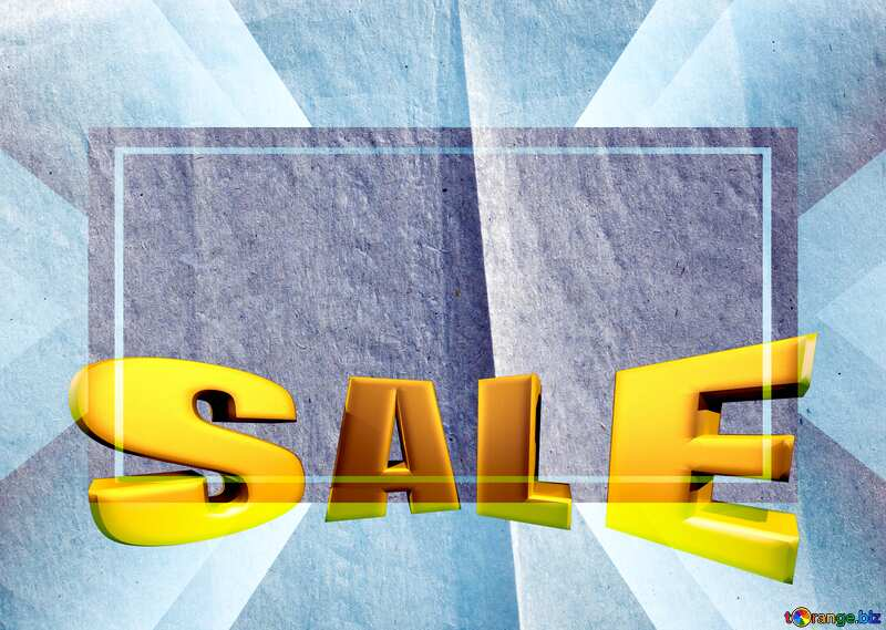 Sales promotion 3d Gold letters sale background Old Paper Template №33533