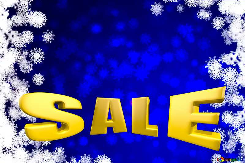 Blue Christmas infographic presentation template Sales promotion 3d Gold letters sale background №40708