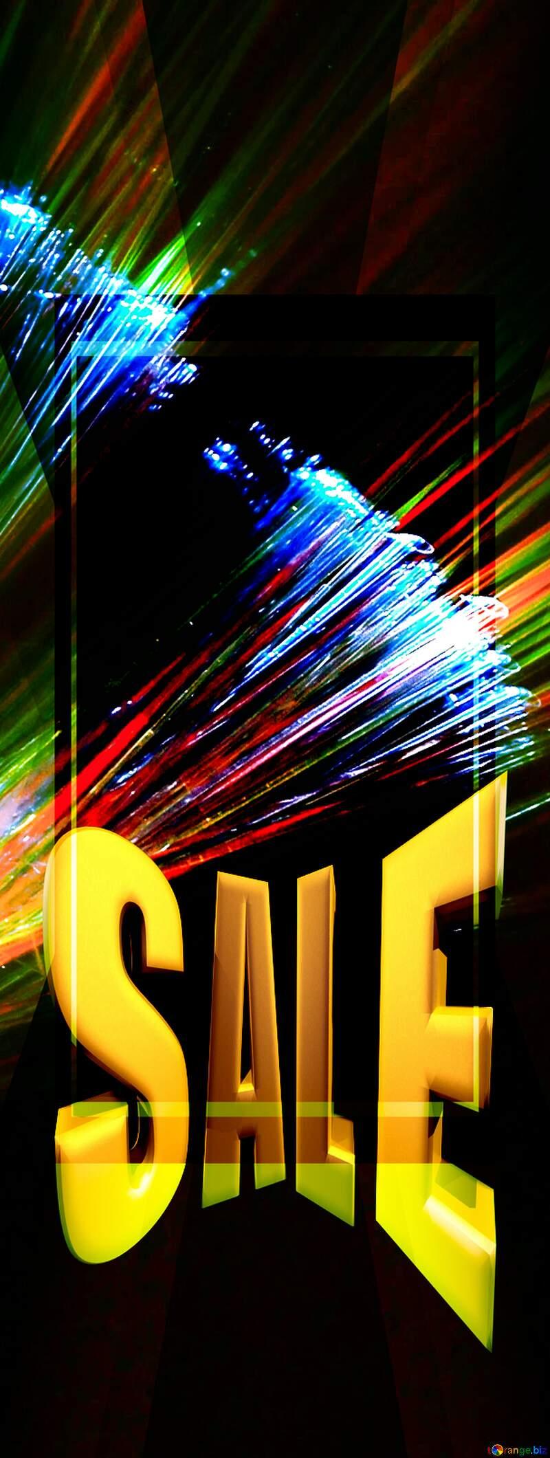 Lights fractal background website infographic template Sales promotion 3d Gold letters sale Template №25870