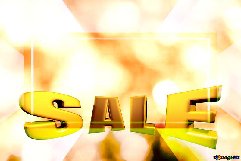 Gold background Sales promotion 3d Gold letters sale №37815