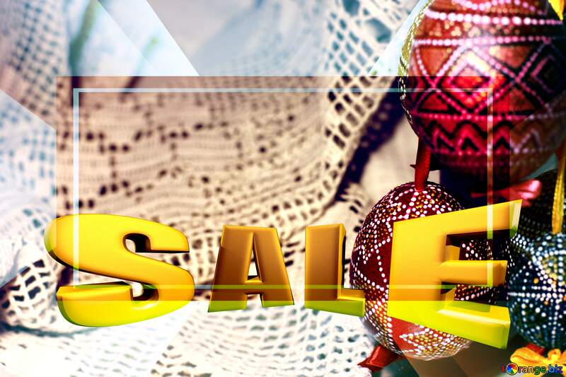 Background Easter holiday Sales promotion 3d Gold letters sale №29719