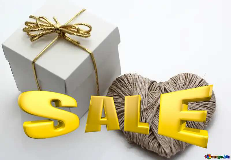 A love gift Sales promotion 3d Gold letters sale background №16364