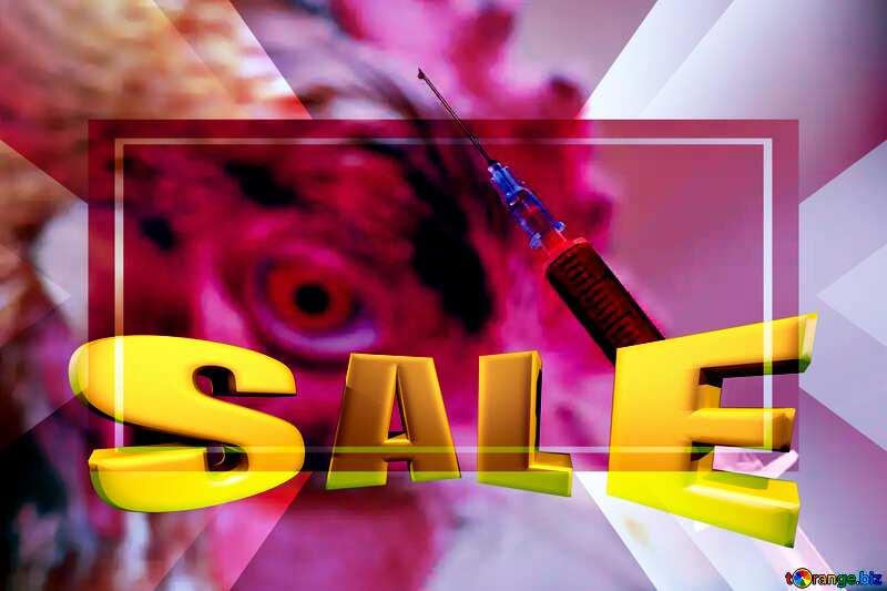 Diseases of Birds Medicine Sales promotion 3d Gold letters sale background Template №19295