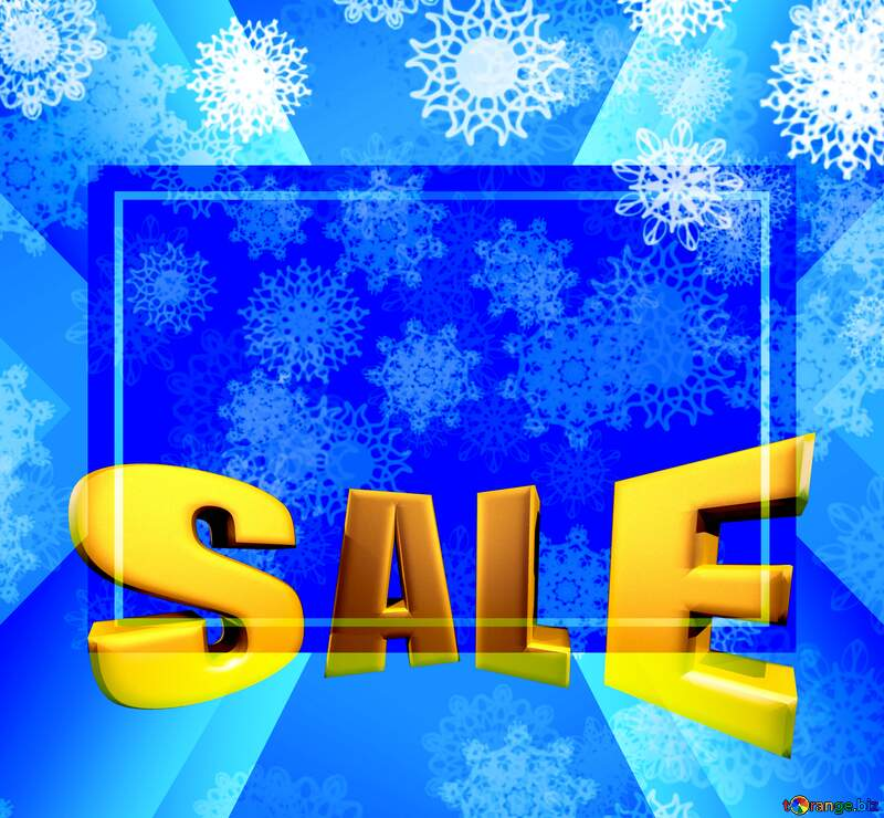 Background Christmas and new year Sales promotion 3d Gold letters sale background Template №40662
