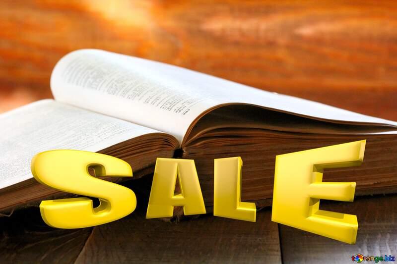 Open book Sales promotion 3d Gold letters sale background №33988