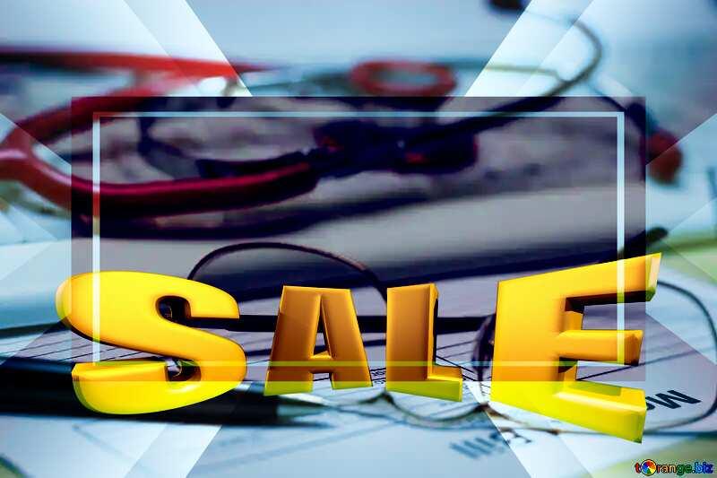 Medical education Sales promotion 3d Gold letters sale background №19713