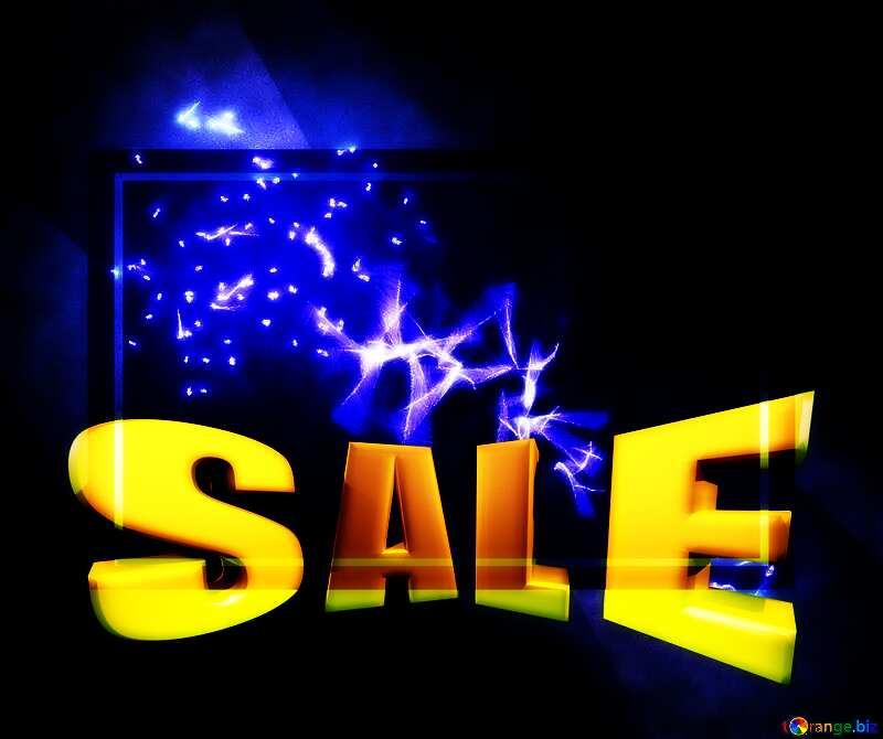 Futuristic Sales promotion 3d Gold letters sale background №40641