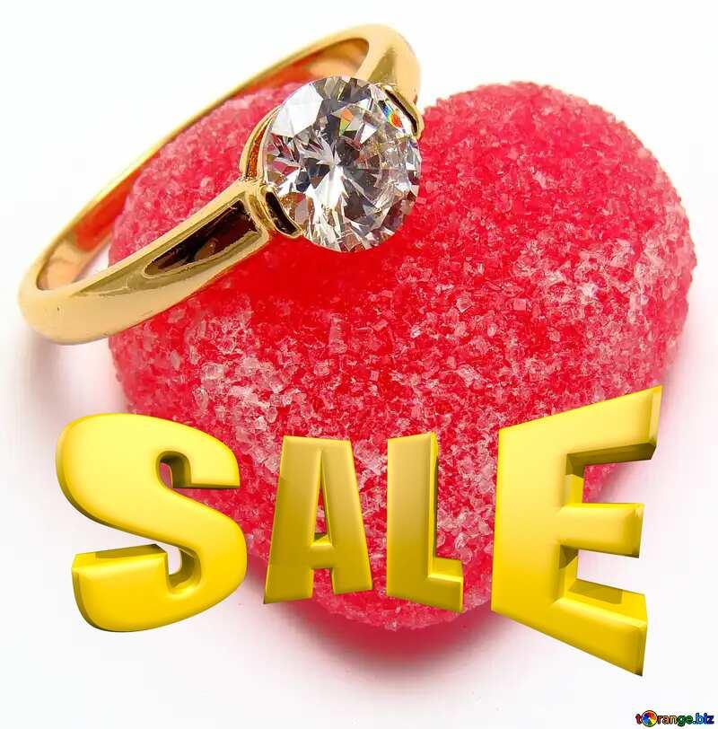Love Sales promotion 3d Gold letters sale background №18534