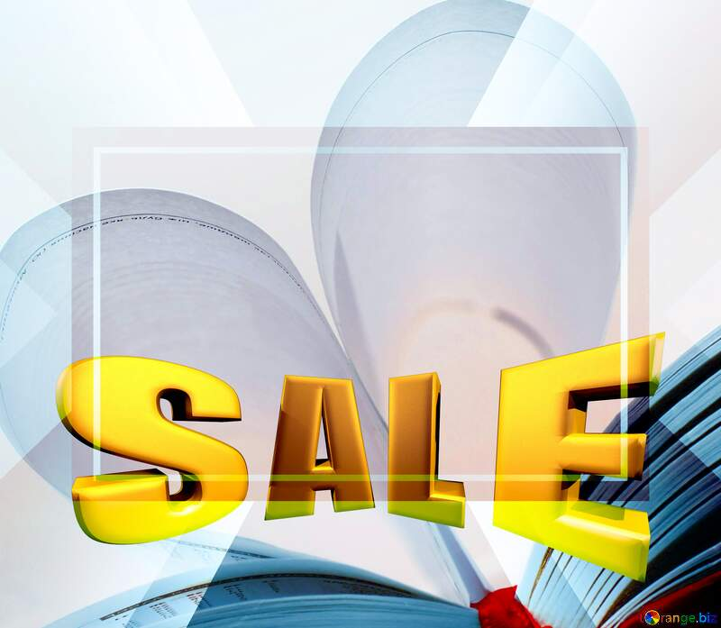 Heart of books Sales promotion 3d Gold letters sale background Template №16081