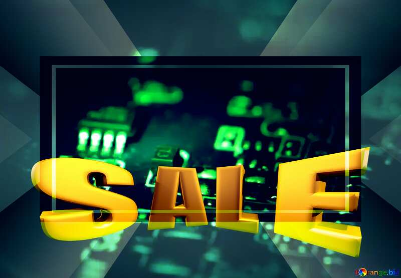 Electronic components Sales promotion 3d Gold letters sale background Template №40845