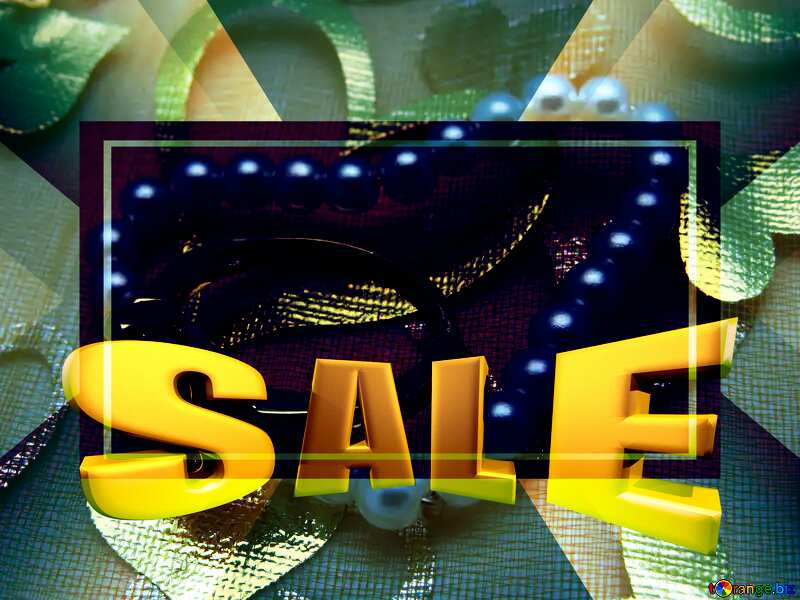 A love gift Sales promotion 3d Gold letters sale background Template №18281