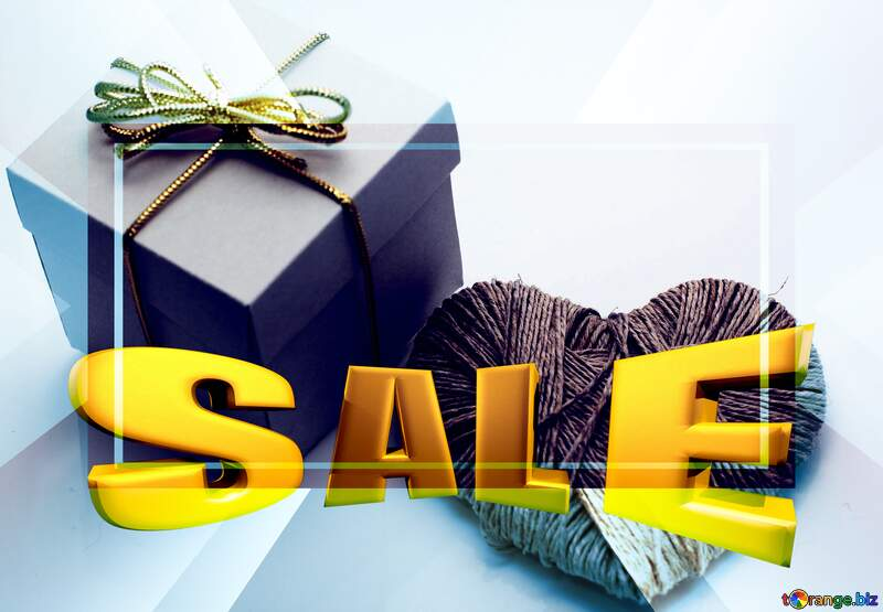 A love gift Sales promotion 3d Gold letters sale background Template №16364