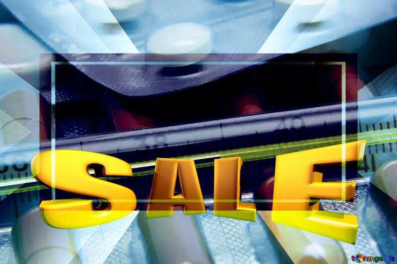 Cold Medicine Sales promotion 3d Gold letters sale background Template №19372