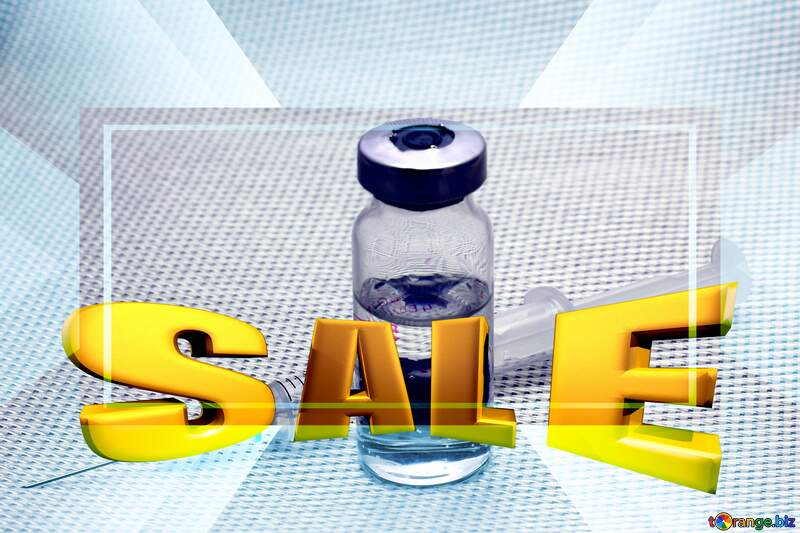 Vaccination Medicine Sales promotion 3d Gold letters sale background Template №18964
