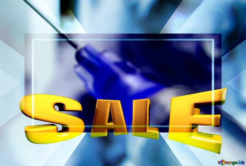 Veterinary Medicine Sales promotion 3d Gold letters sale background Template №18872