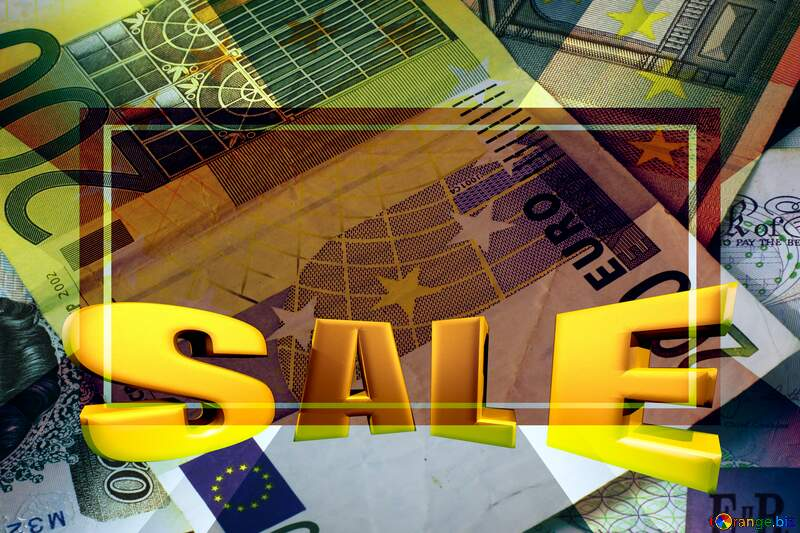 World money Sales promotion 3d Gold letters sale background Template №17140