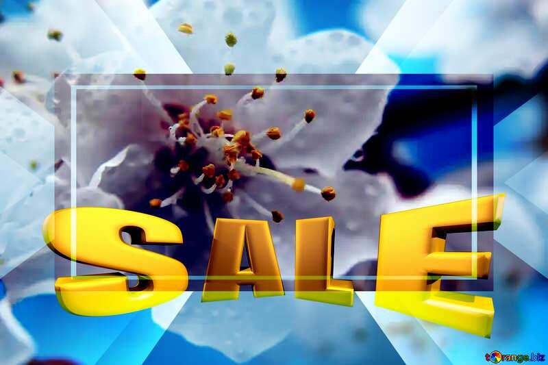 Spring mood Sales promotion 3d Gold letters sale background Template №29888