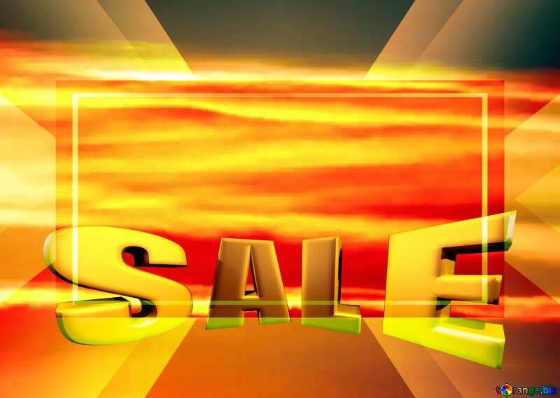 The Scarlet sunset Sales promotion 3d Gold letters sale background Template №31611