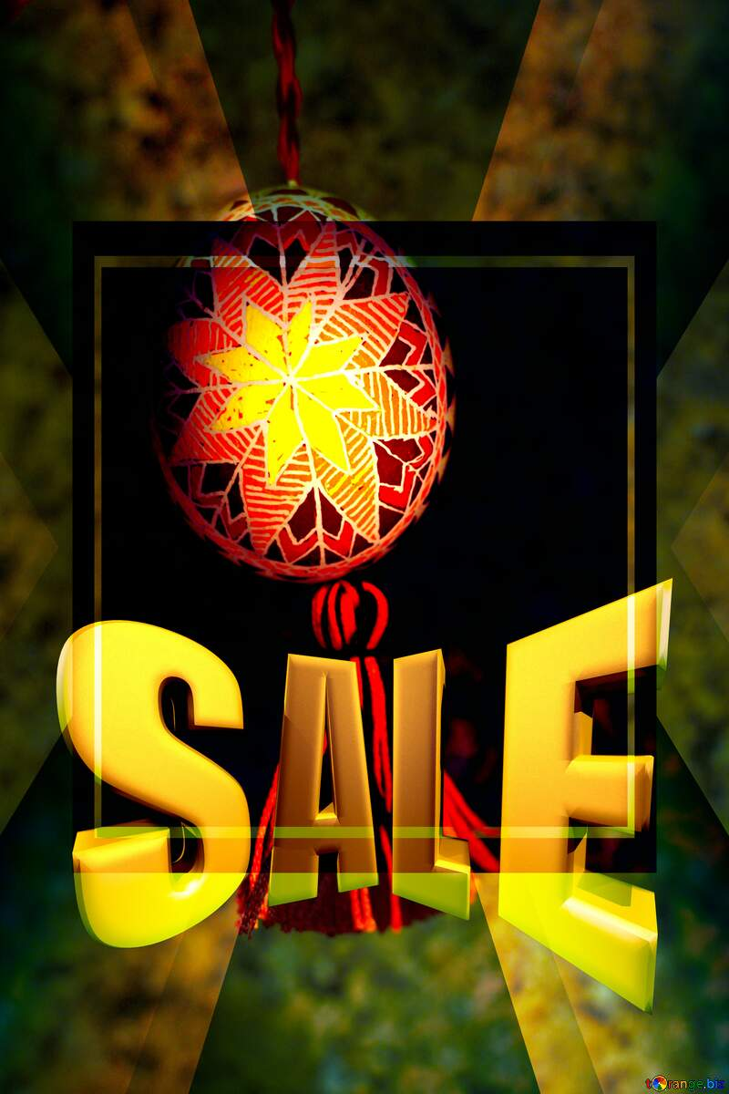 Easter symbol Sales promotion 3d Gold letters sale background Template №29357