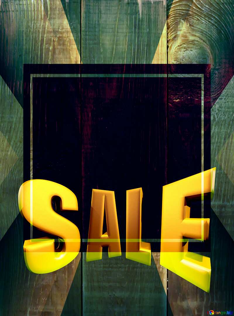 Board texture Sales promotion 3d Gold letters sale background Template №37900