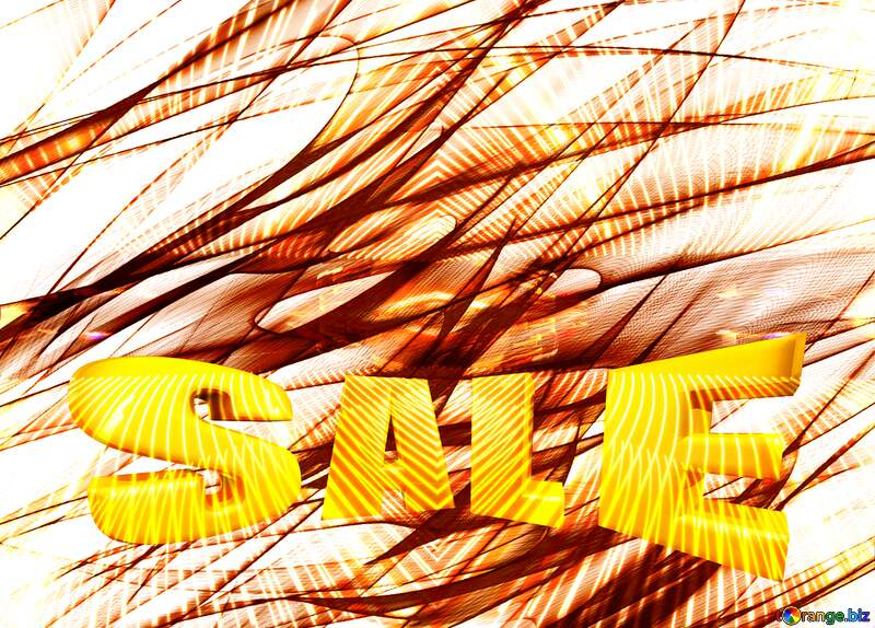 chaos pattern line frame Lights lines curves pattern template Sales promotion 3d Gold letters sale background №40618
