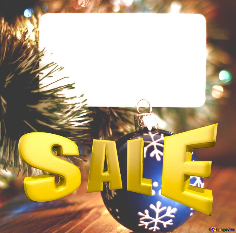 Christmas Sale background Template with Place for text Sales promotion 3d Gold letters №37840