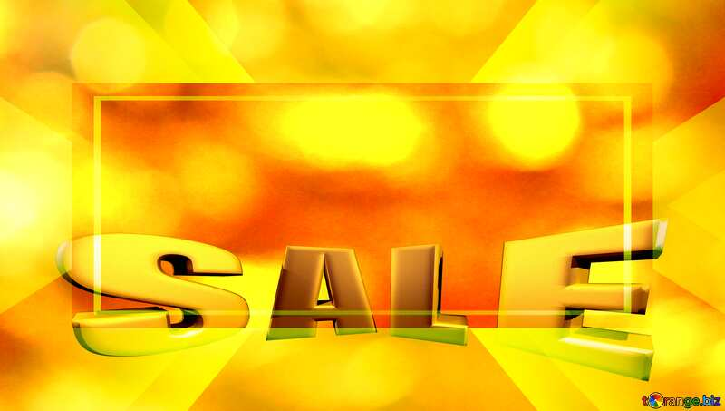 Golden background of the Christmas and new year Sales promotion 3d Gold letters sale №37824