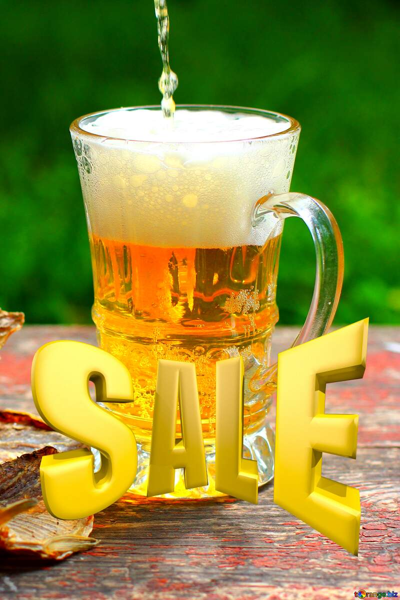 Sales promotion 3d Gold letters sale background Beer №34499