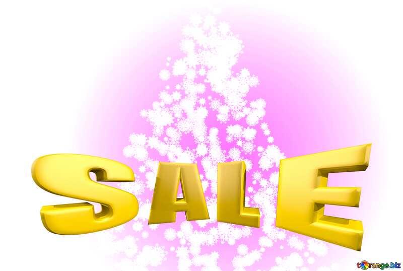 Sales promotion 3d Gold letters sale background Christmas №40661
