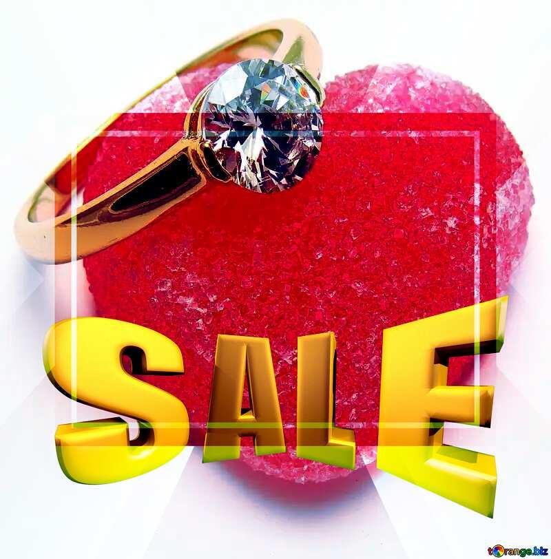Love Sales promotion 3d Gold letters sale background Frame Template №18534