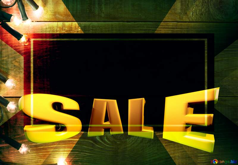 Christmas Sales promotion 3d Gold letters sale background Template №37894