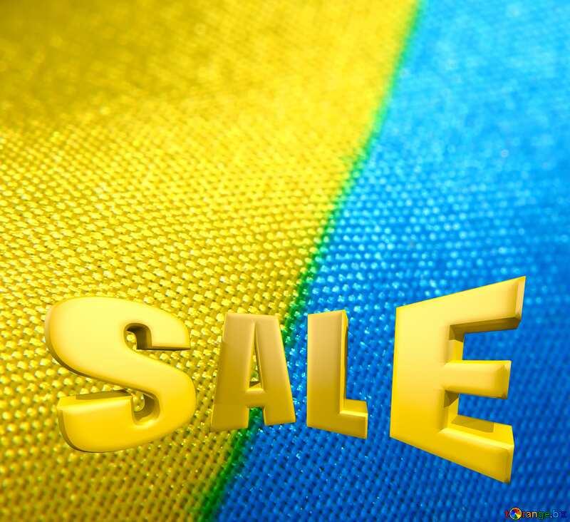 Sales promotion 3d Gold letters sale background Ukraine №36245