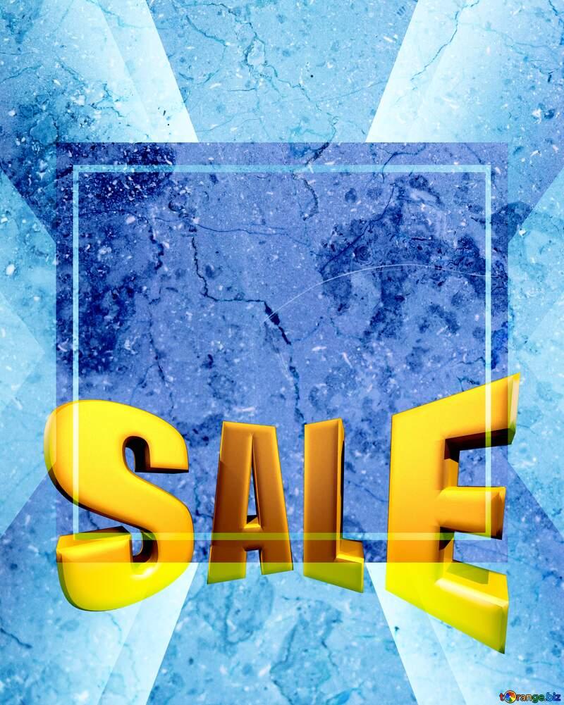 Light marble texture Sales promotion 3d Gold letters sale background Design Template №26997