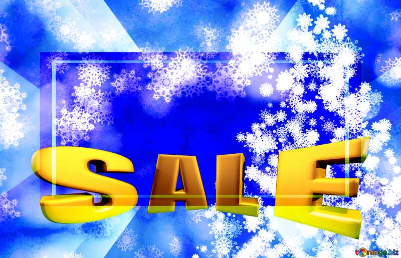 Background frame Christmas Hot Sale Sale offer discount template Sales promotion 3d Gold letters №40703