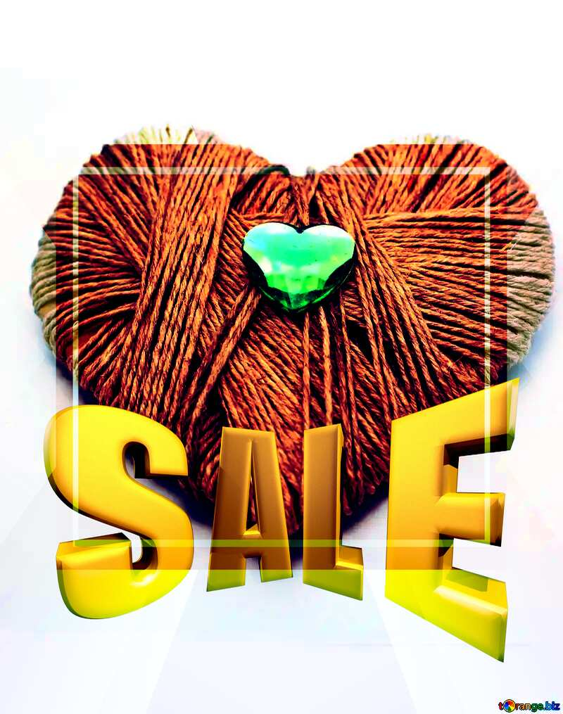 Sales promotion 3d Gold letters sale background Homemade Valentine`s Day Gift Template №16436