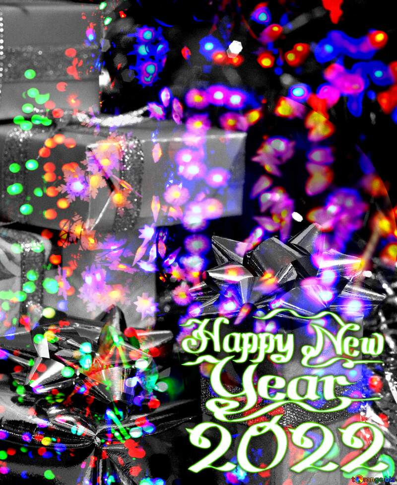 Christmas Gifts 2021 Happy New Year Background №6494