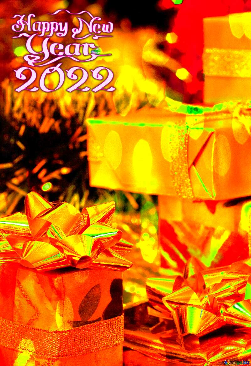 Gifts Christmas 2021 Happy New Year Greeting Card №6494