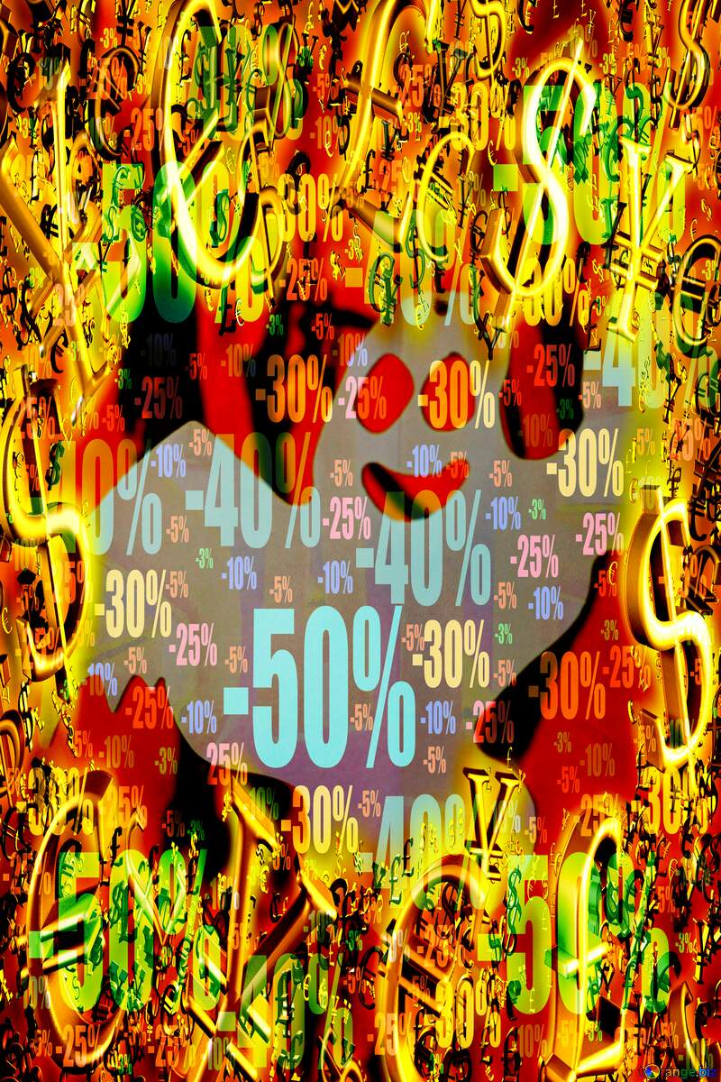 Halloween Ghost Discount Sale Promotion Background Gold money frame border 3d currency symbols business template №47260