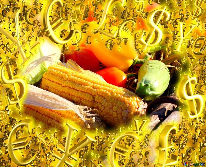Autumn vegetables sale store shop poster Gold money frame border 3d currency symbols business template №47314
