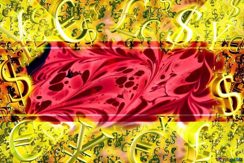 Red swirly pattern Template Frame Sales promotion 3d Gold letters sale background Gold money frame border 3d currency symbols business template №50867