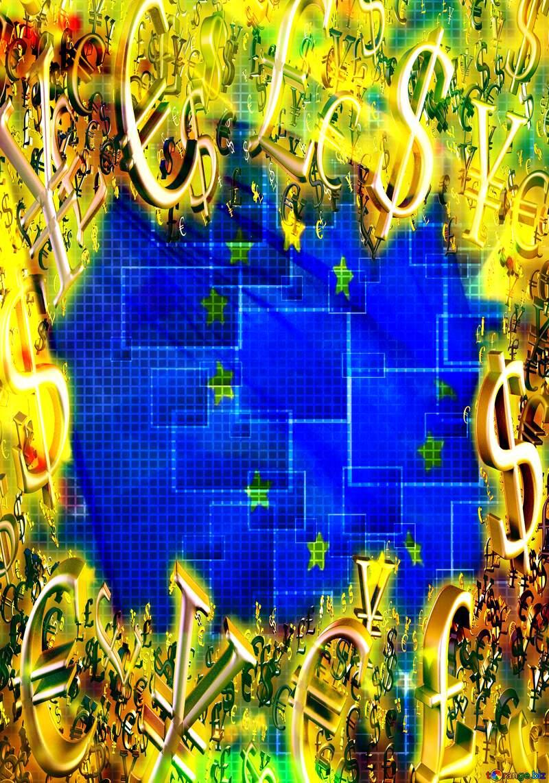euro Technology money frame background finance. №49678