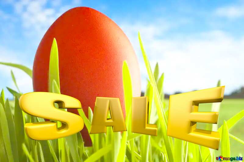 Sales promotion 3d Gold letters sale background Easter Picture Template №8179