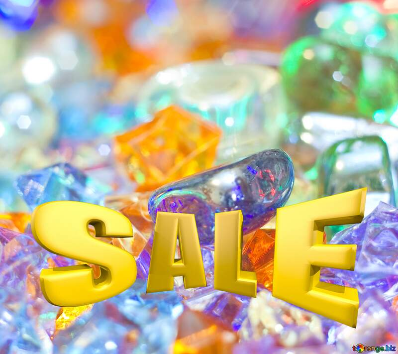 Sales promotion 3d Gold letters sale background Festive Template №6518