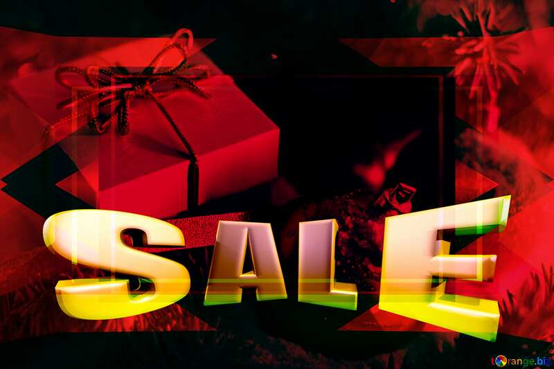 Hot  Christmas sale background №15365