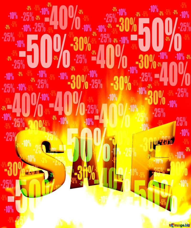 Sales promotion 3d Gold letters sale background Hot Discount Sale Promotion Background №9546