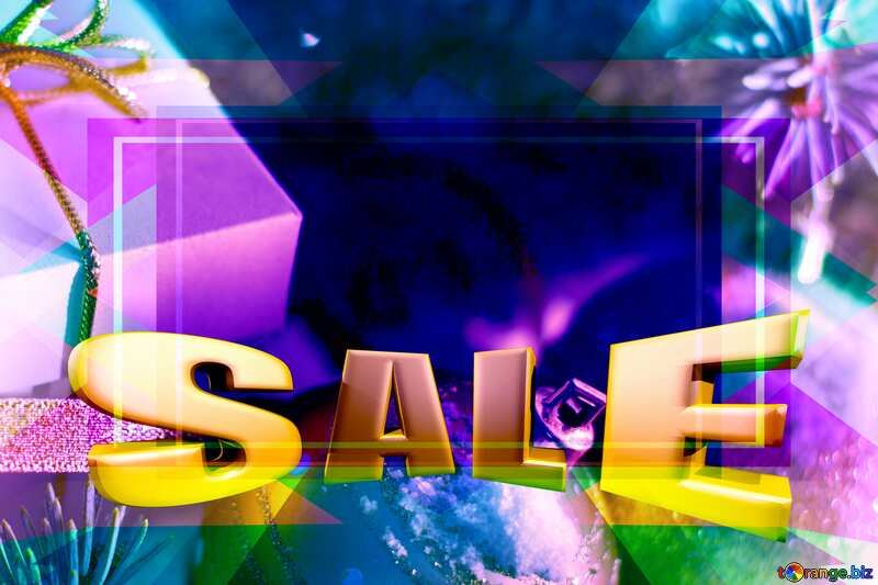 Winter  sale promotion selling ads. template blue frame №15365