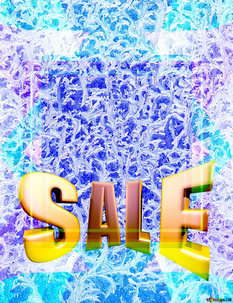 Frozen wizard Template Sales promotion 3d Gold letters sale background №4065