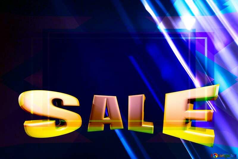 Digital dark background Template Sales promotion 3d Gold letters sale Blue №1700